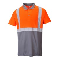 Polo bicolore orange / gris PORTWEST